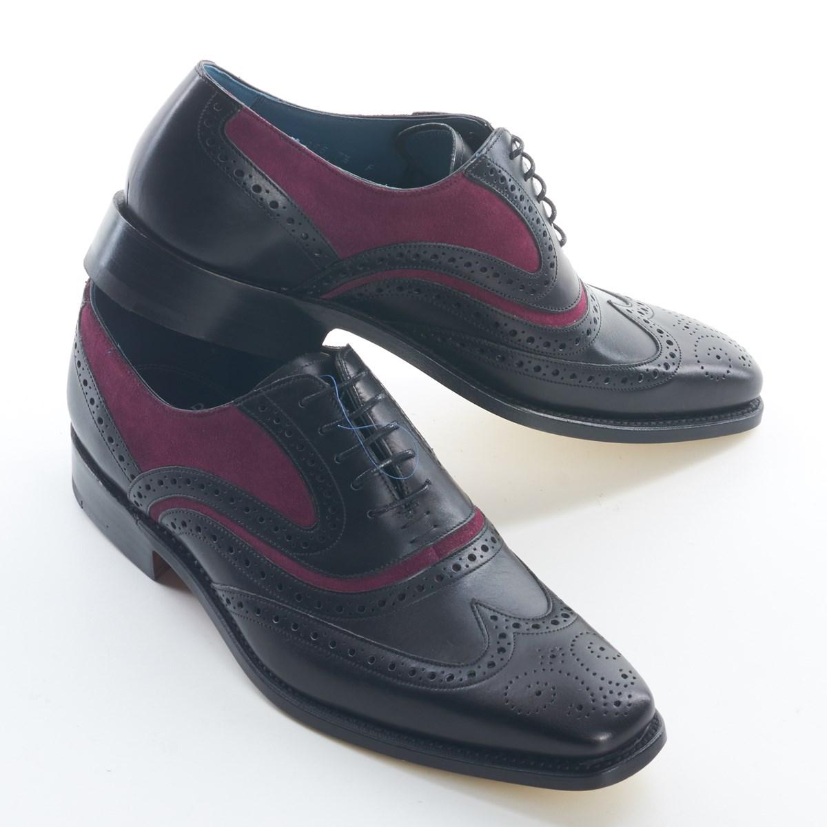 0f58fbd5f075b Dress Brogue Wingtip McClean Black Calf and Purple Suede by Barker ·  1203053_barker_shoe_mcclean_bcps_3074_3132 ·  1203053_barker_shoe_mcclean_bcps_3076_3134