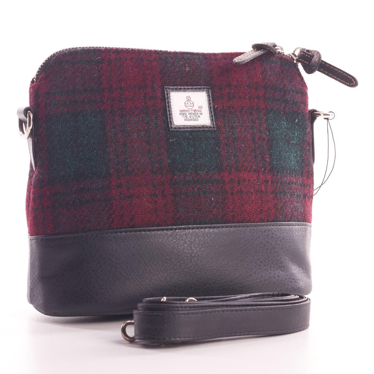 19854afbf3 Ladies Maroon Harris Tweed Shoulder Bag - The Kilt Store