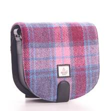 0fa7ec3c57 Pastel Pink Harris Tweed Small Cross Bag