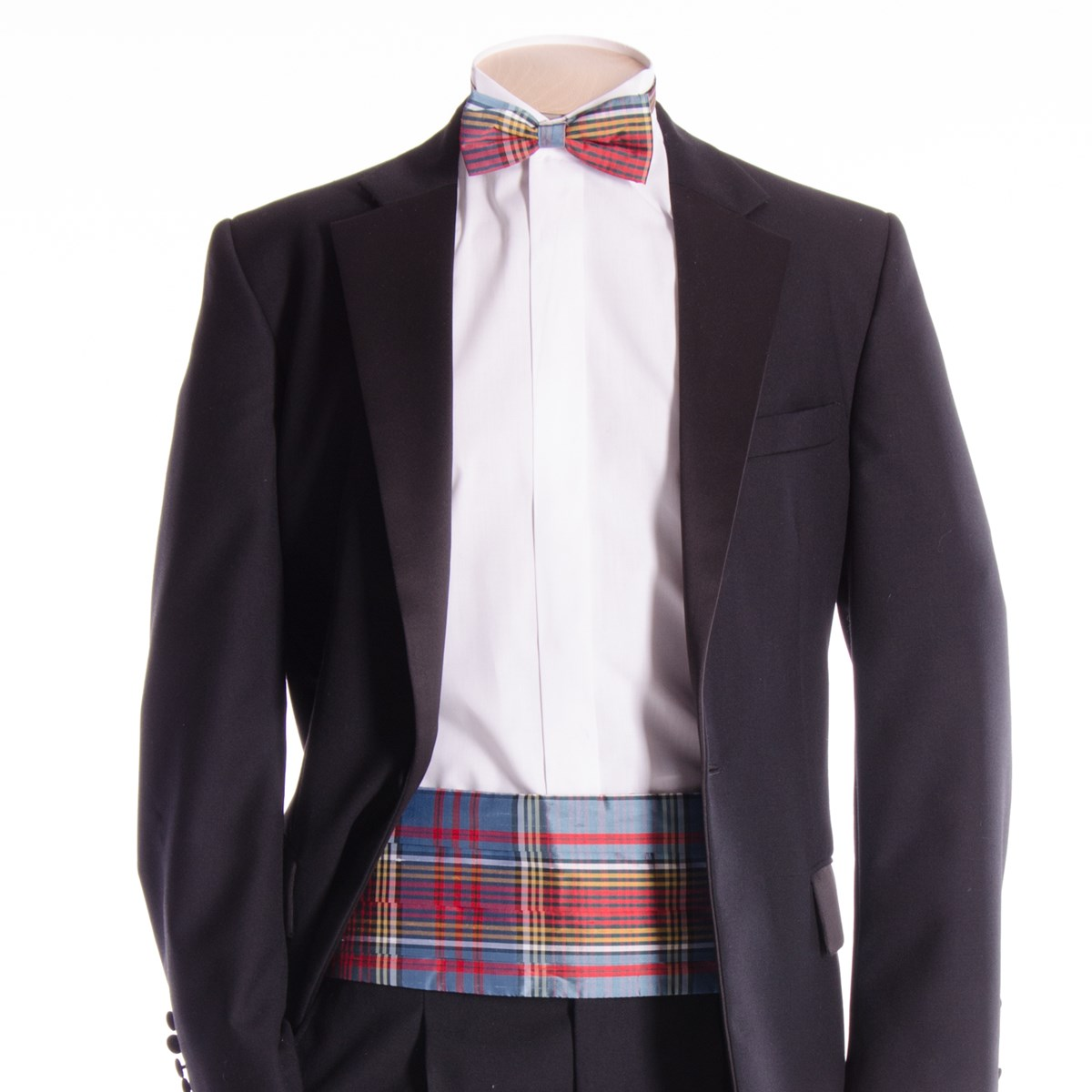 a057aecf1fc Tartan Cummerbund and Bow Tie in Modern Anderson Silk Material - The Kilt  Store