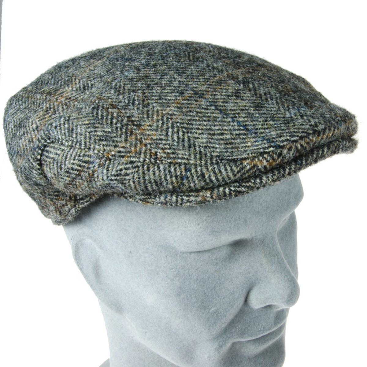 1e4cf89578d5e Cap Harris Tweed Check Granite