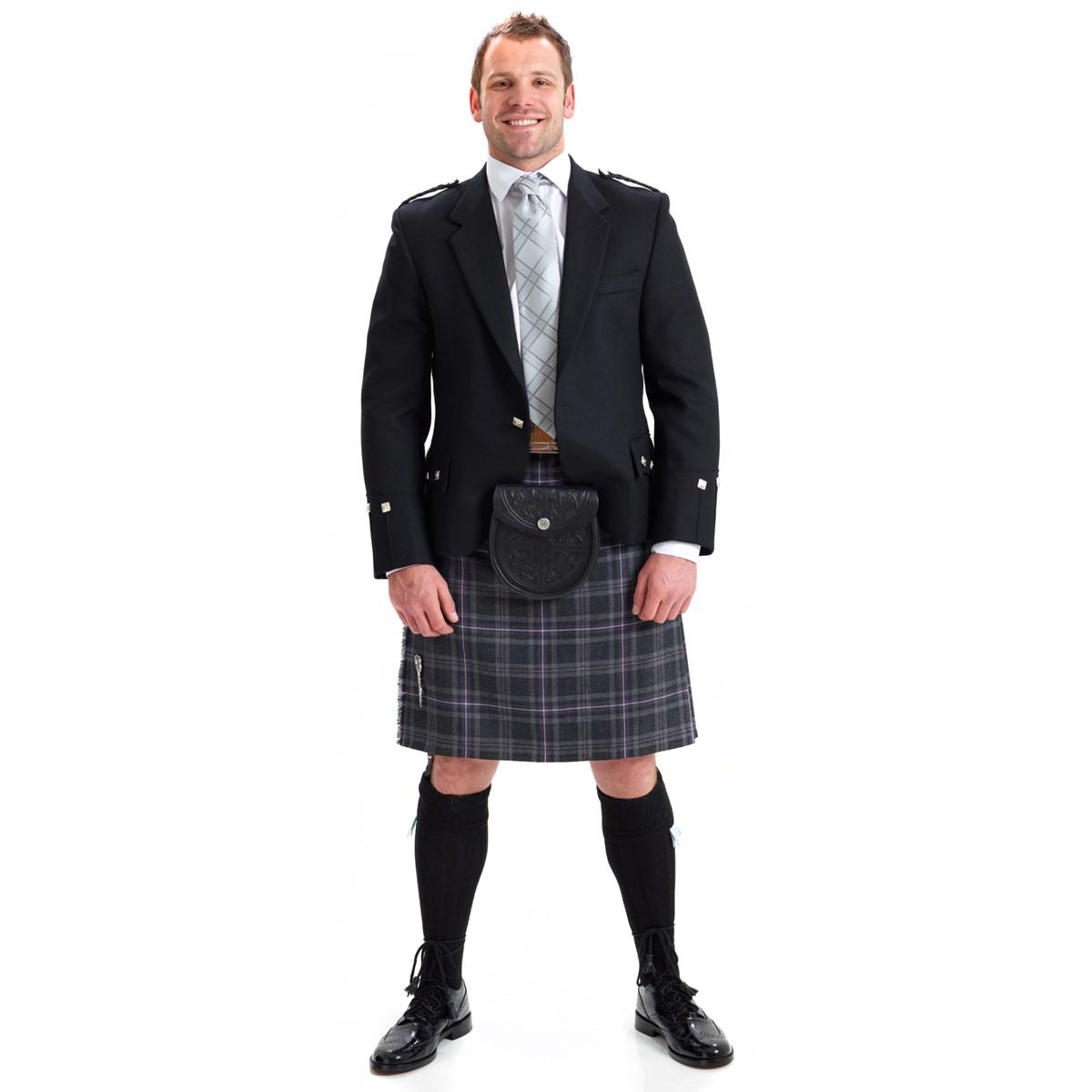 argyle traditional kilt with 8 yard kilt made in scotland