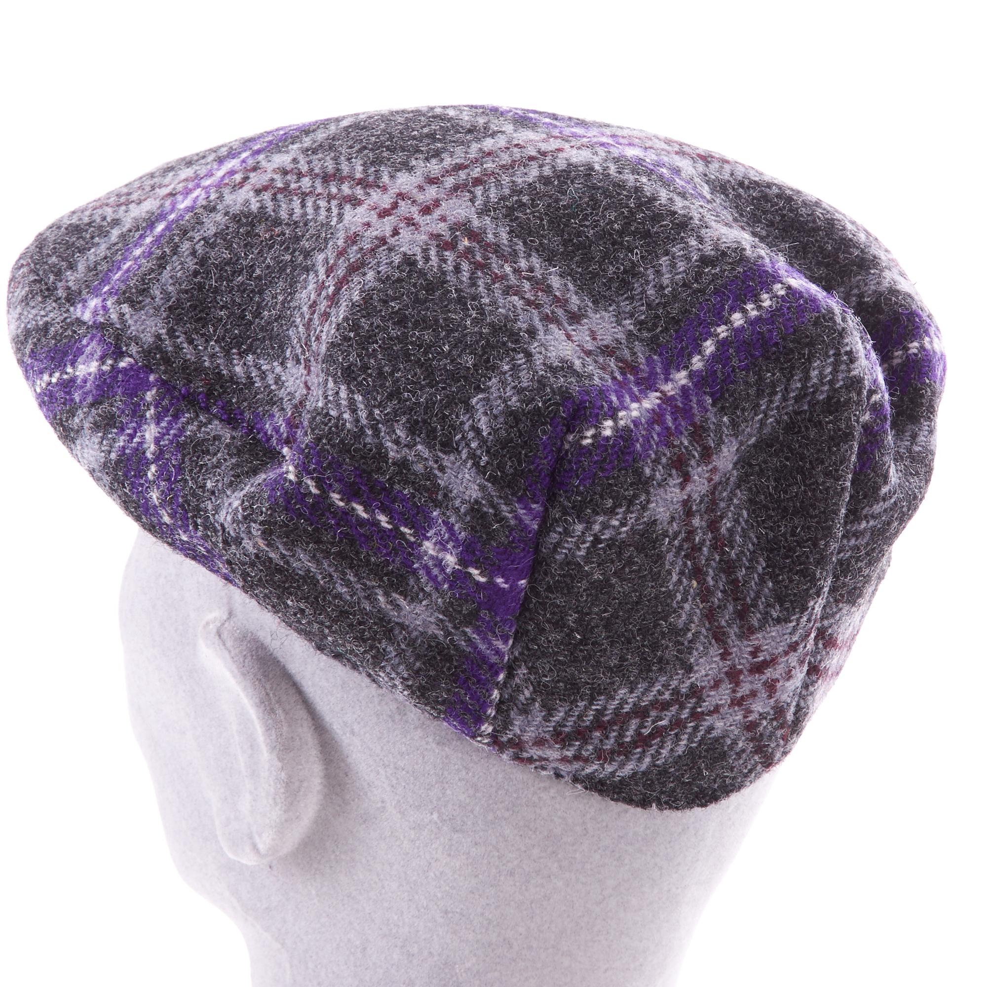 Hebridean Thistle Harris Tweed Cap