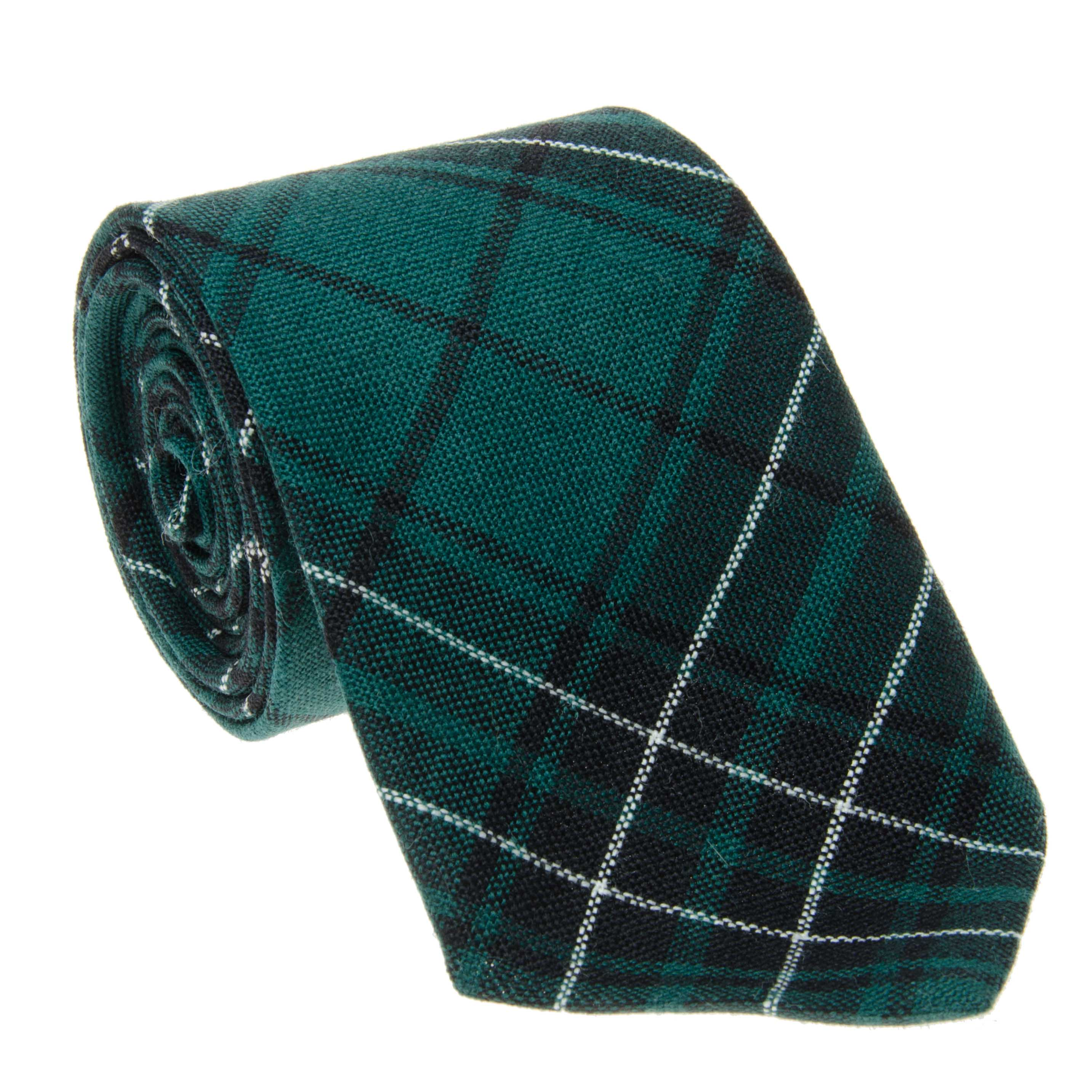 Mens Clan Tie Made in Scotland MacLean Hunting Modern Tartan