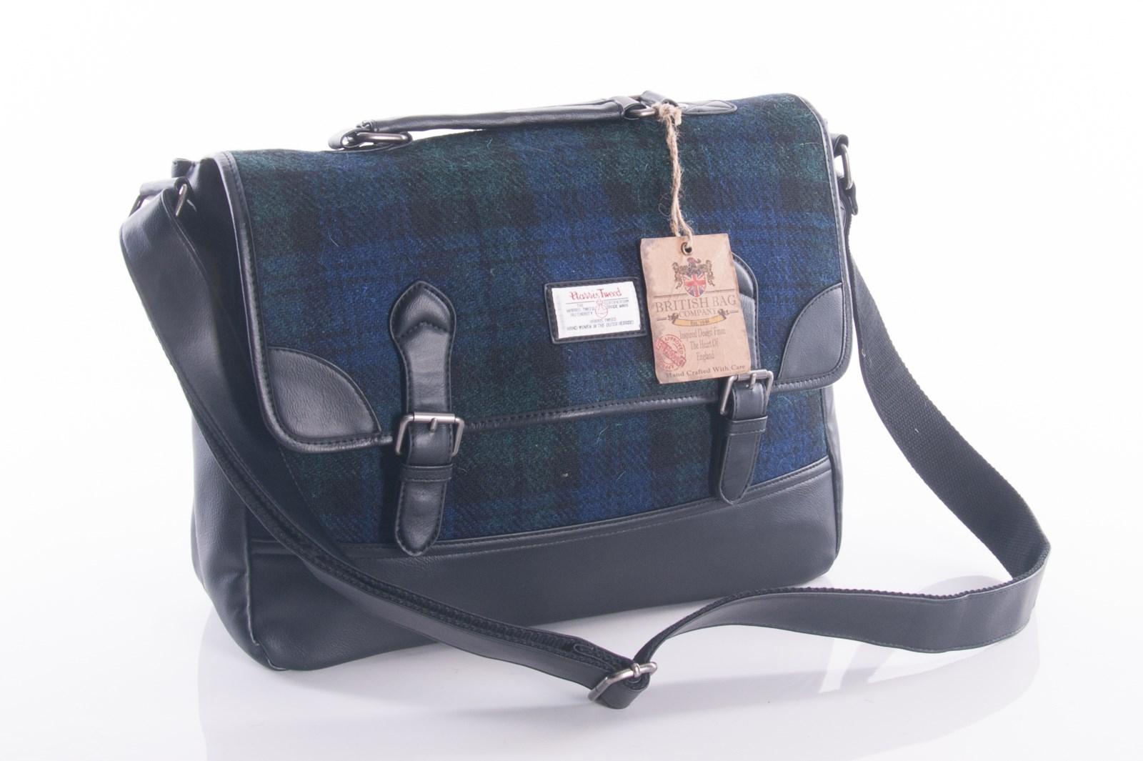0cfc15c76486 Harris Tweed Black Watch Messenger Bag by the British Bag Company.  magmouch sophos messenger bag black watch 18090042-2
