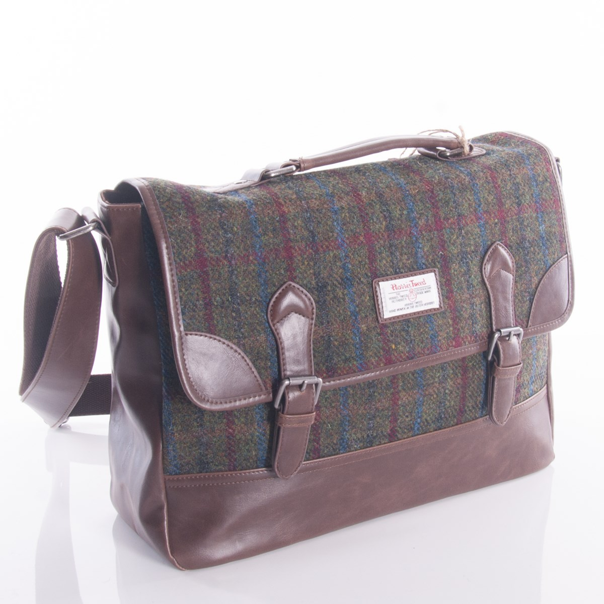 569106e77dab Green Harris Tweed Briefcase by The British Bag Company - The Kilt Store