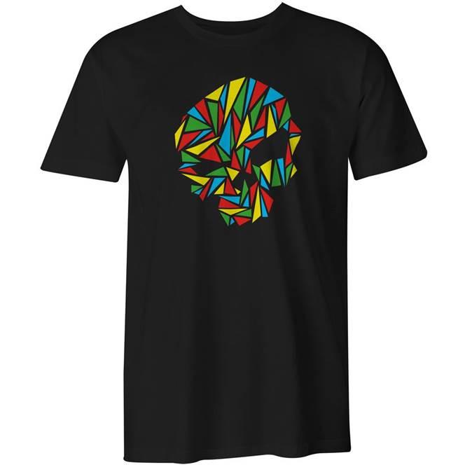 Black Origami Skull T Shirt By Urban Pirate The Kilt Store
