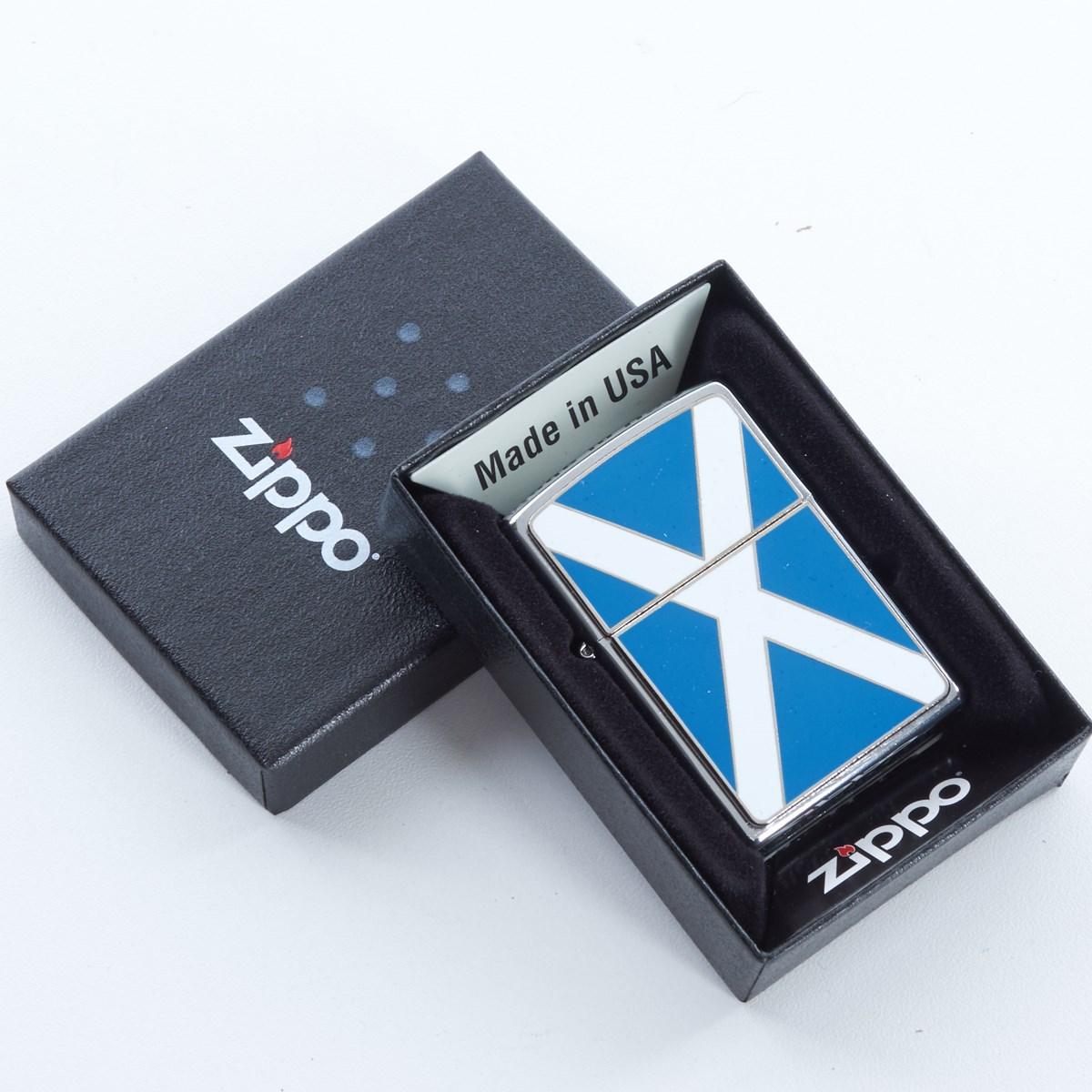 Engravable Zippo Lighter Scotland Flag - The Kilt Store
